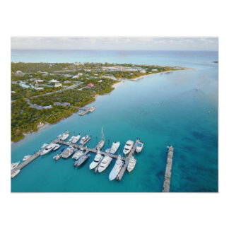 Turks and Caicos view from above Poster