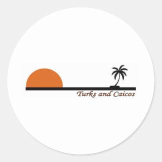Turks & Caicos Classic Round Sticker