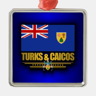 Turks & Caicos Pride Metal Ornament