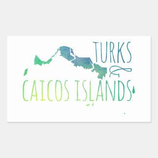 Turks & Caicos Rectangular Sticker
