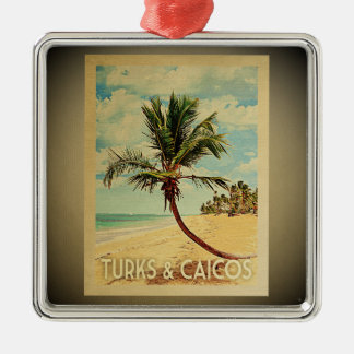 Turks Caicos Vintage Travel Ornament Palm Tree