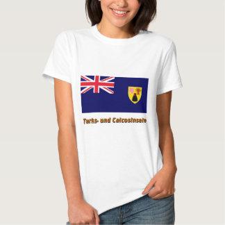 Turks- und Caicosinseln Flagge mit Namen T Shirt