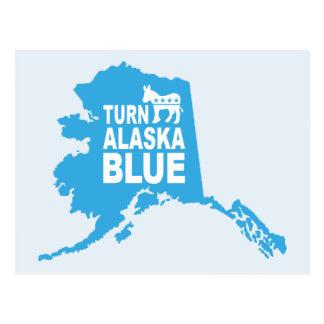 Turn Alaska Blue Postcard | Vote Democrat
