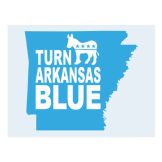 Turn Arkansas Blue Postcard | Vote State Democrat