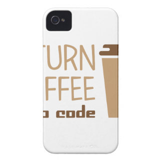 Turn Coffee Into Code iPhone 4 Cover