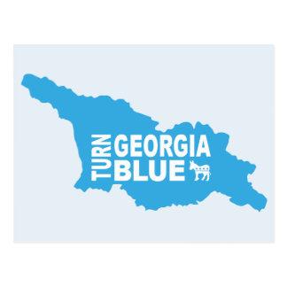 Turn Georgia Blue Postcard | Vote State Democrat