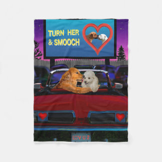 TURN HER AND SMOOCH FLEECE BLANKET