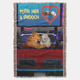 TURN HER AND SMOOCH THROW BLANKET