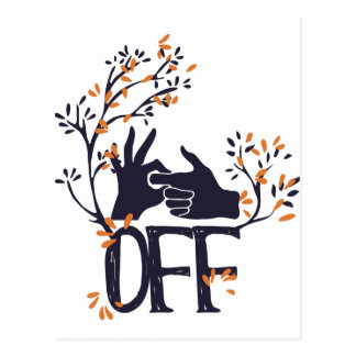 turn if off or on cute design postcard