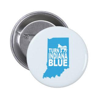 Turn Indiana Blue Progressive Button   Resist!