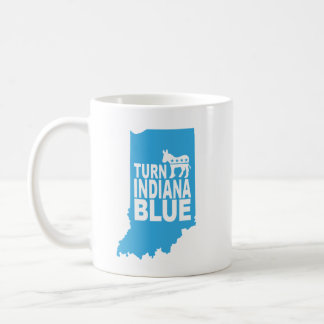 Turn Indiana Blue! Progressive Message Mug