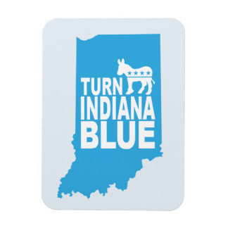 Turn Indiana Blue Progressive Refrigerator Magnet