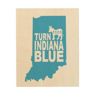 Turn Indiana Blue Wood Wall Art   Vote Progress!