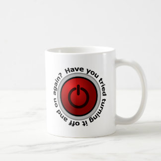 Turn It On & Off - Button Logo Coffee Mug