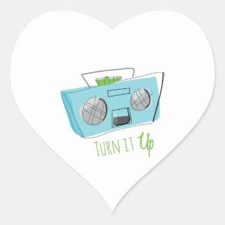 Turn It Up Heart Sticker