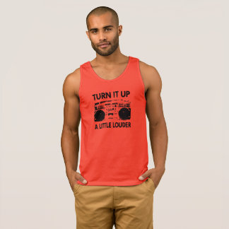 Turn It Up Hip Hop Boombox Singlet