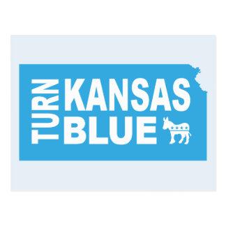 Turn Kansas Blue Postcard | Vote State Democrat