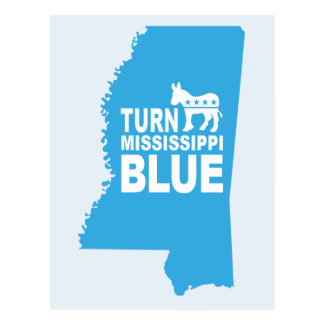 Turn Mississippi Blue Postcard | Vote Democrat