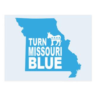 Turn Missouri Blue Postcard   Vote Progressive