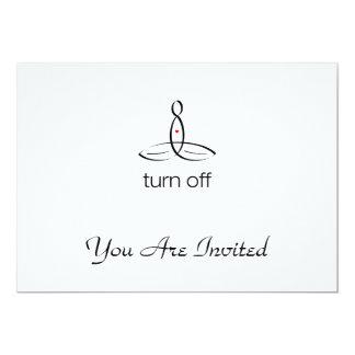 Turn Off - Black Regular style 13 Cm X 18 Cm Invitation Card