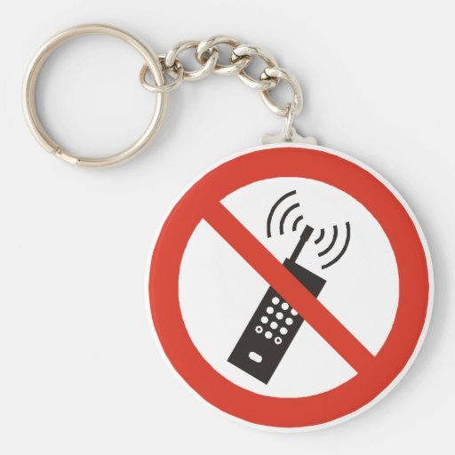 Turn Off Your Cell Phone Keychain