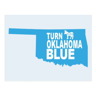 Turn Oklahoma Blue Postcard | Vote State Democrat