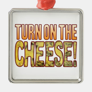 Turn On Blue Cheese Silver-Colored Square Decoration