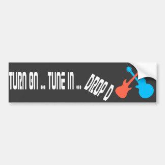 Turn On - Tune In - Drop D  Guitar  Bumper Sticker