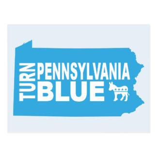 Turn Pennsylvania Blue Postcard | Vote Democrat