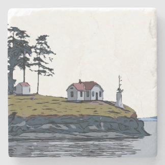 TURN POINT - Stuart Island Stone Coaster