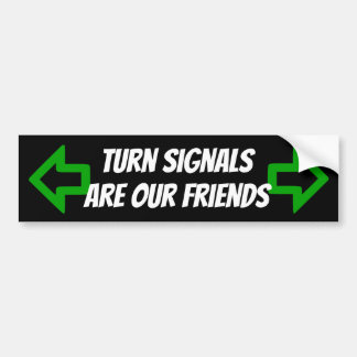 Turn Signals Are Our Friends sticker with arrows