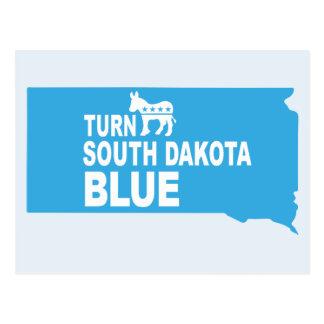 Turn South Dakota Blue Postcard | Vote Democrat