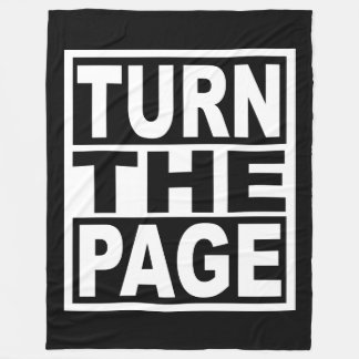 Turn the Page Fleece Blanket