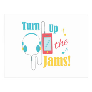 Turn Up Jams Postcard