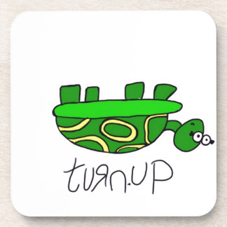 Turn Up Turtle Beverage Coasters
