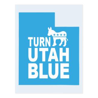 Turn Utah Blue Postcard | Vote State Democrat