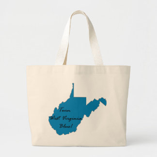 Turn West Virginia Blue! Democratic Pride Large Tote Bag
