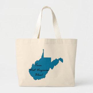Turn West Virginia Blue! Democratic Pride Large Tote Bag