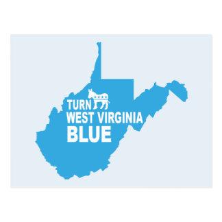 Turn West Virginia Blue Postcard | Vote Democrat