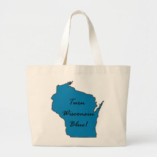 Turn Wisconsin Blue! Democratic Pride! Large Tote Bag