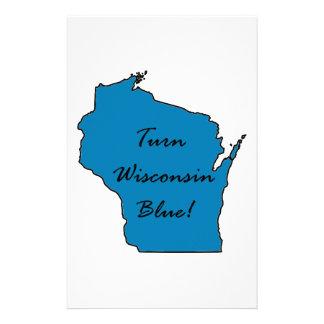 Turn Wisconsin Blue! Democratic Pride! Stationery