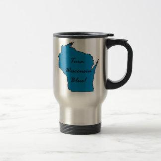 Turn Wisconsin Blue! Democratic Pride! Travel Mug