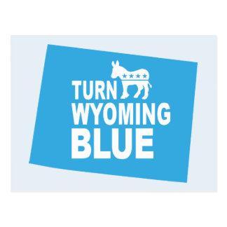 Turn Wyoming Blue Postcard | Vote Democrat