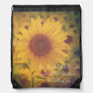 Turn your face to the sun... drawstring bag