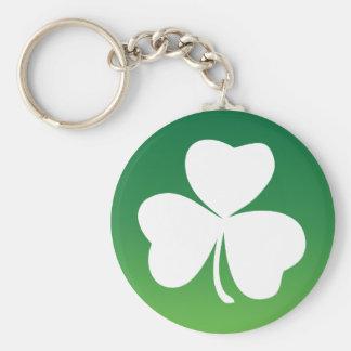 Turn your Irish ON! green white theme Basic Round Button Key Ring