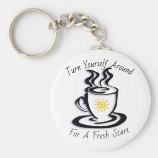 Turn Yourself Around for a FRESH START Key Chain