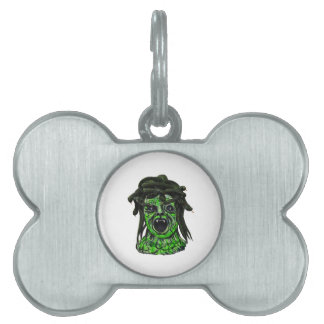 Turned to Stone Pet Name Tags