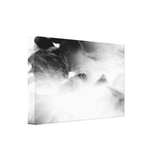 Turned up canvas print