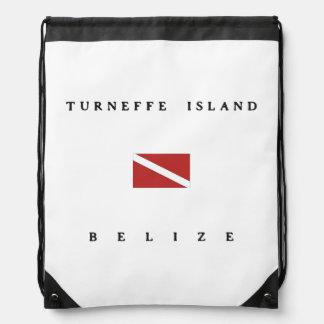 Turneffe Island Belize Scuba Dive Flag Drawstring Bag