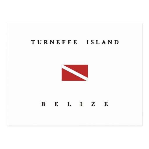 Turneffe Island Belize Scuba Dive Flag Post Cards